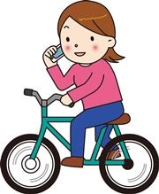 携帯いじりながら自転車