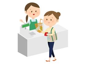食品スーパーのレジ