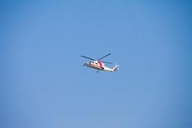 ヘリコプターで移動