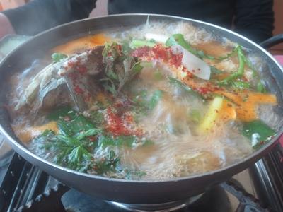 韓国料理で鍋に