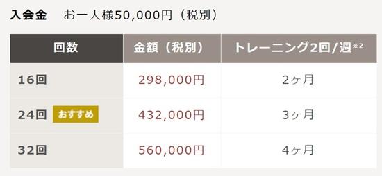 【分割9,900円から可能】各種コース・ライザップ料金(価格)一覧