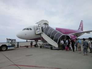 ピーチ沖縄の乗り方!那覇空港1FからバスでLCCターミナルへ!