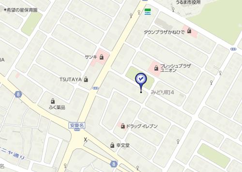 ティーダ沖縄の地図