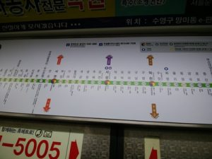 韓国電車の乗り換え