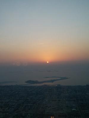 日没の景色