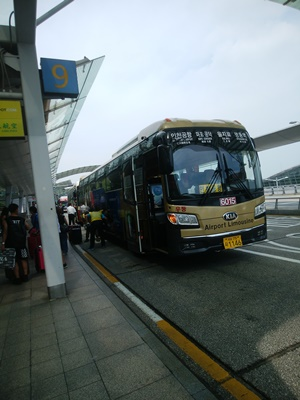 仁川空港へ到着