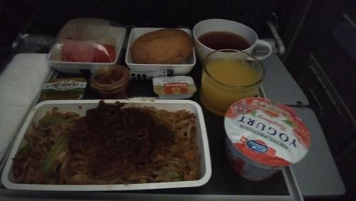 2度目のシンガポール機内食