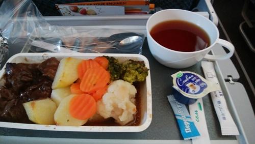 モスクワストックホルム間の機内食