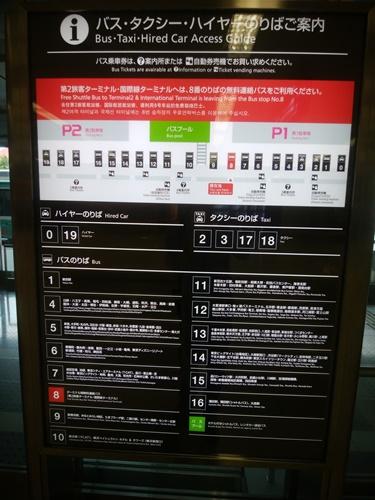 羽田空港ターミナルビルバス乗り場案内