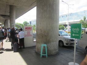 マニラ空港GRABタクシー乗り場