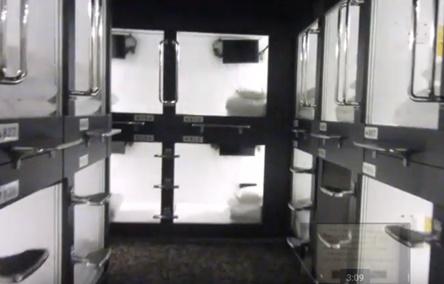 レオ癒カプセルホテルのカプセル内の様子